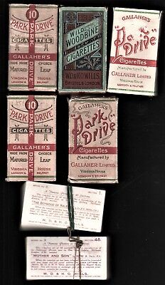 Figurine-Cigarette cards-The Boyhood Of Raleigh+Mother & Son+ 5 empty boxes