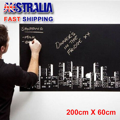 200x60cm Removable Blackboard Vinyl Wall Sticker Chalk Board Decal Peel Stick