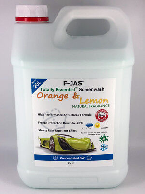 F-JAS 5L Concentrated Naturally Scented Screenwash Orange & Lemon Fragrance