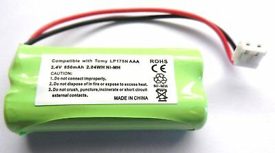 Replacement Tomy TD300 Digital Baby Monitor Battery LP175N 2.4V 850mAh NiMH