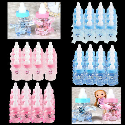 24x Cartoon Candy Gift Box Baby Shower Bottle Baptism Party Christening Favours