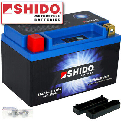 Batterie Kawasaki KSV700 V-Force  Bj. 2011 Shido Lithium LTX14-BS / YTX14-BS