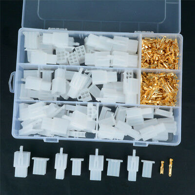 1Kit  Auto Electrical 2 3 4 6 Pin 2.8 mm Wire Terminal Connector 40sets Terminal