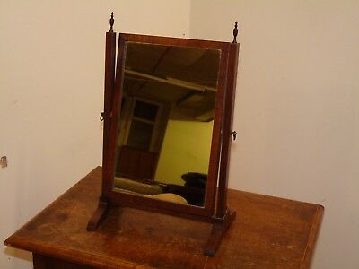 Antique Vintage Mahogany Dressing Table, Vanity Mirror. Home,bedroom,desk,square