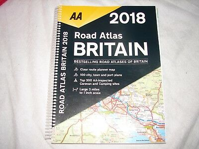AA Road Atlas Britain: 2018 by AA Publishing (Spiral bound, 2017)