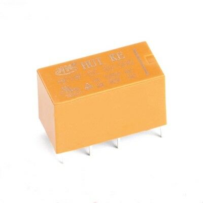 Yellow Original HUIKE Mini Power Relays HK19F-DC3V 5V 9V 12V 24V-SHG 8-Pin 2A