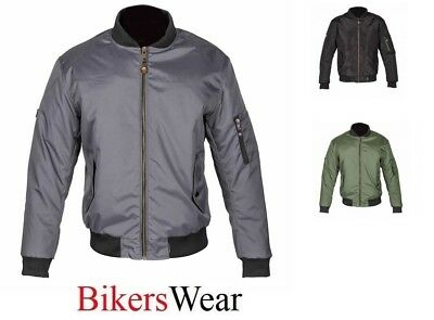 Spada Textile Jacket Bomber motorcycle -AIR FORCE 1-Olive(Green) WP & Breathable