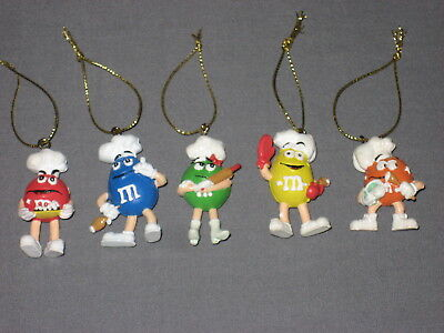Vtg Chef M&M Mini Christmas Oranaments Lot of (5) Five Set