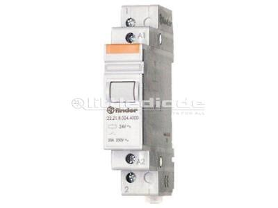 22.24.8.230.4000 Relay installation DPST-NC Ucoil230VAC Mounting DIN FINDER