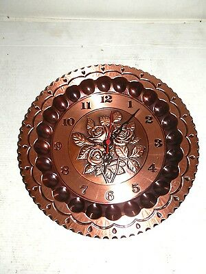 Wall clock copper polished quartz paesaggio 30 cm ROSE