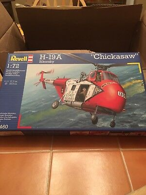 Revell 1/72 scale H-19A chickasaw coast guard helicopter model kit