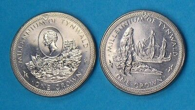 """1979 Isle Of Man Crown Coin""""s Millennium Of Tynwald [01]"""
