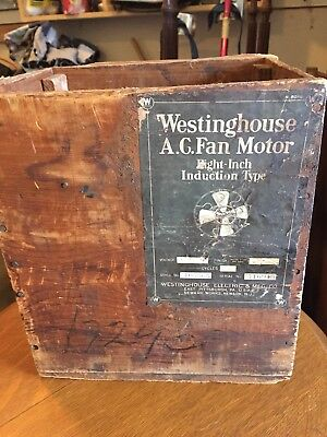 Rare 8in Westinghouse Fan Shipping Crate