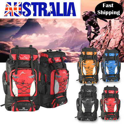 Large 80L Waterproof Backpack Duarable Luggage Camping Bag Outdoor Travel