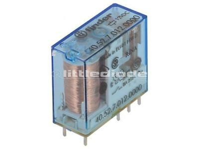 FINDER 41.52.9.012.0010 RELAY DPDT THT 15A POWER 12VDC