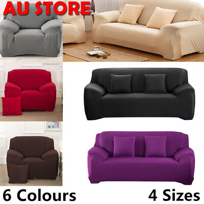 1/2/3/4 Seater Stretch Sofa Lounge Covers Sofas Couches Protector Chair Cover