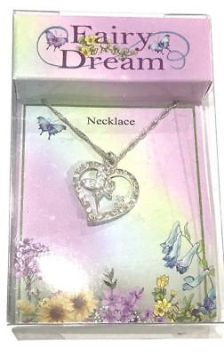 Fairy Dream Gorgeous Fairy In Love Heart  Necklace *NEW*