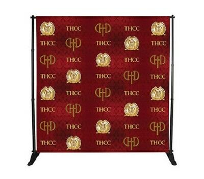 8' x 8' Step and Repeat Banner Stand Adjustable Telescopic Trade Show Backdrop