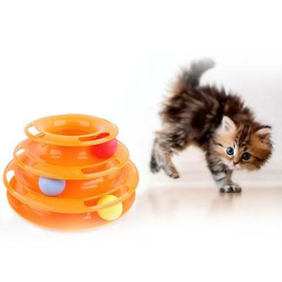 Nouveau Kitty Cats Toys Attractions Interactive Plate Tridermique Ball Disque EH
