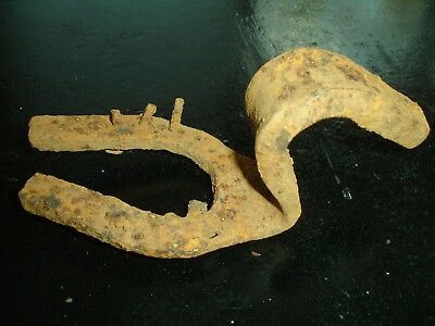 Odd Antique primitive Farrier horseshoe blacksmith hand forged Tool square nails
