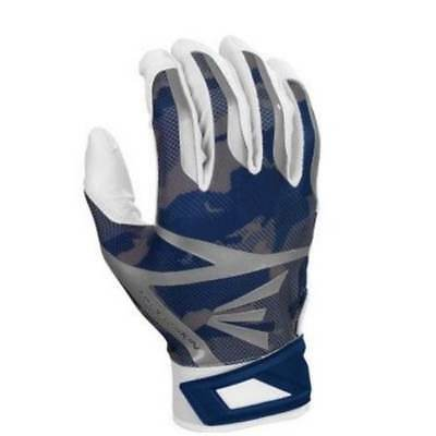 Easton ZF7 Hyperskin Batting Gloves (White/Navy BaseCamo) A121314 LARGE,new
