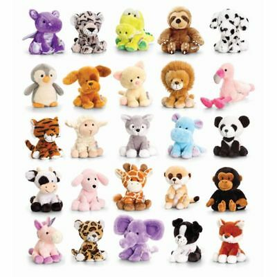 Keel Soft Toy Cute Baby Animals Dog Cat Farm Jungle Lion Poodle Pippins 14cm New