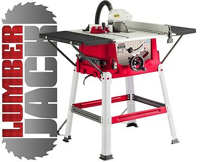 "Lumberjack TS254SL 10"" Bench Table Saw with Side Extensions 250mm"