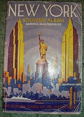 New York Souvenir Album Camera Meisterwerke / Der goldene Leitfaden of City 1936