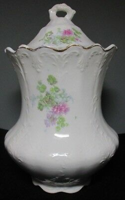 RARE Hand Painted EDWIN M. KNOWLES CHINA CO. Semi-Vitreous CANISTER/CONTAINER