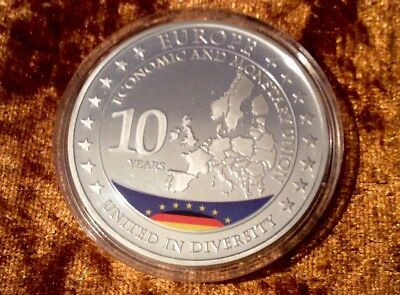 Medaille Münze Germany 10 Years United in Diversity Monetary Union