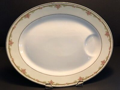 "Theodore Haviland Limoges ""Schleiger 625"" 15 3/4"" Oval Serving Platter w/ Well"