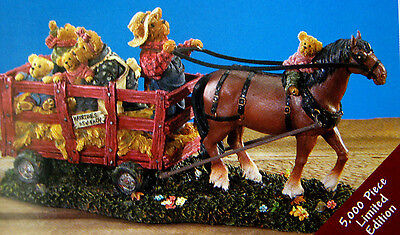 💖 Boyds LE Resin - The Haymaker Family! 4015167 New VHTF Rare