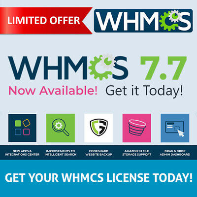 WHMCS LICENSE 7.6.1 Starter ✅Trusted Seller ✅Genuine Product ✅Verified license