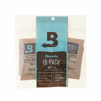 Boveda 58 Percent RH 2-Way Humidity Control, 8 gram - 10 Pack 58% Rh Level