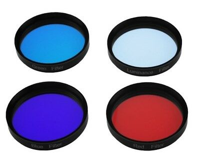 The ASTROMANIA LRGB Filter Set includes four filters, 2""