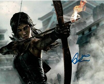 LARA CROFT!! TOMB RAIDER! SEXY! 8x10 signed art photo. Autograph World LLC COA