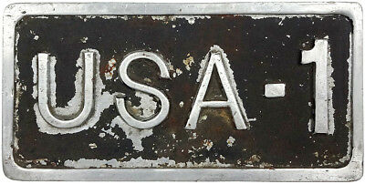 1960s CHEVROLET license plate USA-1 manufacturing die