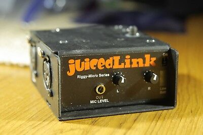 JUICEDLINK Riggy Micro rm222 2 Chanel XLR Preamp for DSLR or Mirrorless