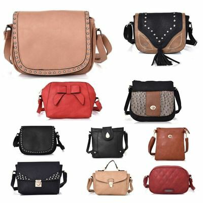 New Womens Designer Style Cross Body Bag Ladies Bag Girls Light Shoulder Handbag