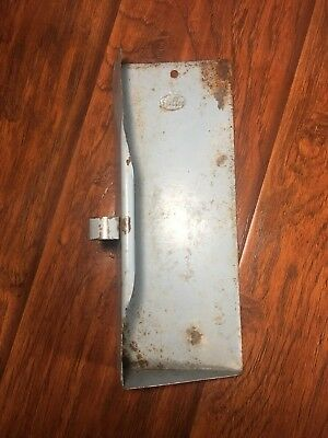 Vintage Cool Fuller Metal Dustpan Dust Pan Primitive Antique Old Blue Grey Rusty