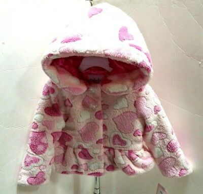 eb0ef81ae GYMBOREE BABY GIRL Puffer Jacket With Faux Fur Pink Coat Size 12-18 ...