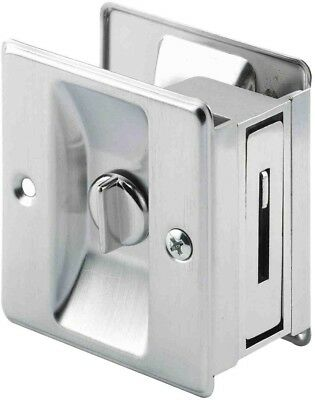 Privacy Latch Satin Nickel Pocket Door Pull Hook Sturdy Hardware Included