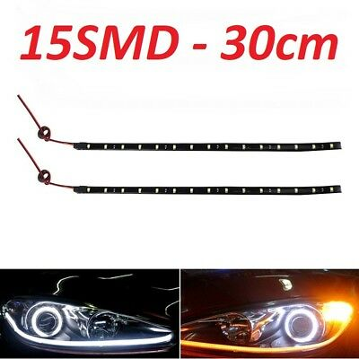 Luz diurna, LED Flexible Impermeable 30cm 15SMD 3528 DC12V, adhesivo 3M