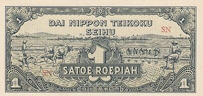 Netherlands Indies 1 /2 and 1 Roepiah 1944 Imperial Japanese Government