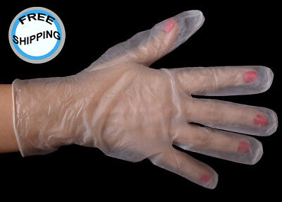 1,000 Daxwell F10001750 Powder Free, Large, Clear, Vinyl Food Service Gloves
