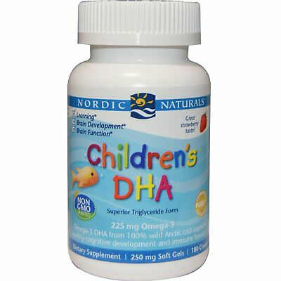 Nordic Naturals Children's DHA 250mg 180 Softgels