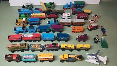 Large lot of Thomas The Tank Engine wooden 47 trains, vehicles and figures