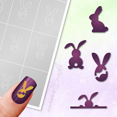 Stencils Airbrush + Nailart SET22 EASTER EASTER EASTER BUNNY RABBIT Adhesive Set