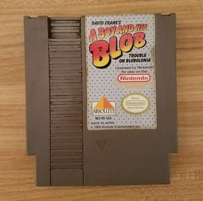Vintage Nintendo NES Game:A Boy And His Blob Trouble In Bobolonia TESTED