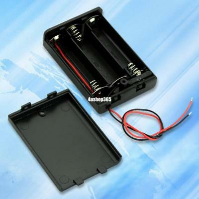 Black 3 AA Battery Holder Box Case With Switch EE4068 4978132